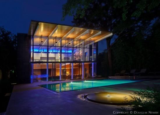 House Designed by Architect Gary Cunningham - Highland Park Pool House