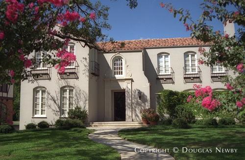 Spanish Colonial Real Estate Designed by Architect Wilson Fuqua - 4304 Arcady Avenue