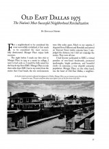 Old East Dallas, The Nation's Most Successful Neighborhood Revitalization