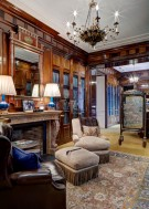 Library in Maurice Fatio Designed Home in Mayflower Estates