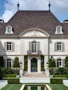 Front Facade of the Crespi Hicks Estate Home Designed by Maurice Fatio in Dallas, Texas