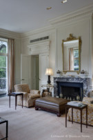 Bedroom and Fireplace of Preston Hollow Estate Home