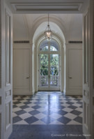 Side Entrance to the Crespi Hicks Estate Home on 25 Acres in the Preston Hollow Neighborhood