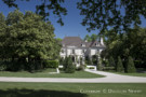 The Tree Lined Formal Motor Court of the Crespi Hicks Estate Home