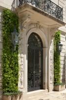Carved Entrance of the Crespi Hicks Estate Home in Mayflower Estates