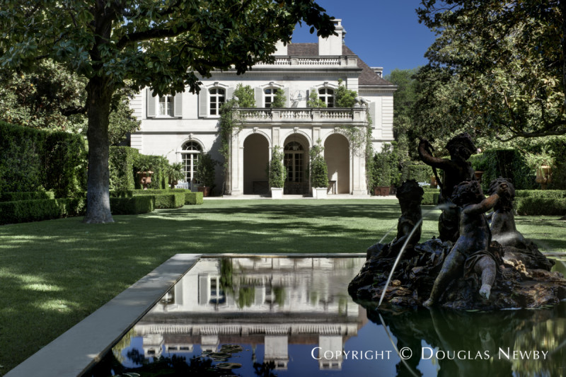 Reflection of West Loggia in Fountain Found on the Crespi Hicks Property