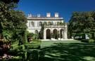 Arabella Lennox-Boyd Designed Garden Facing West Loggia of Crespi Hicks Estate Home