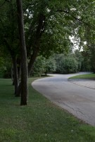 Informal Winding Drive to Estate Home in Preston Hollow