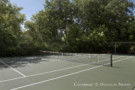Tennis Court Protected by Trees in Preston Hollow