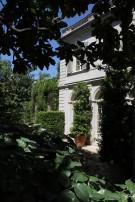 Peek of the Side Facade of the Crespi Hicks Estate Home