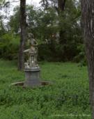 Statue in Wilderness on Dallas Estate Property