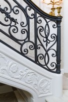 Intricate Railing in Maurice Fatio Designed Home in Mayflower Estates