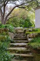 Stone Steps on Dallas Estate Home