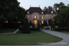 Front View of the Architect Maurice Fatio Designed Crespi Hicks Estate Home in Preston Hollow in the Evening