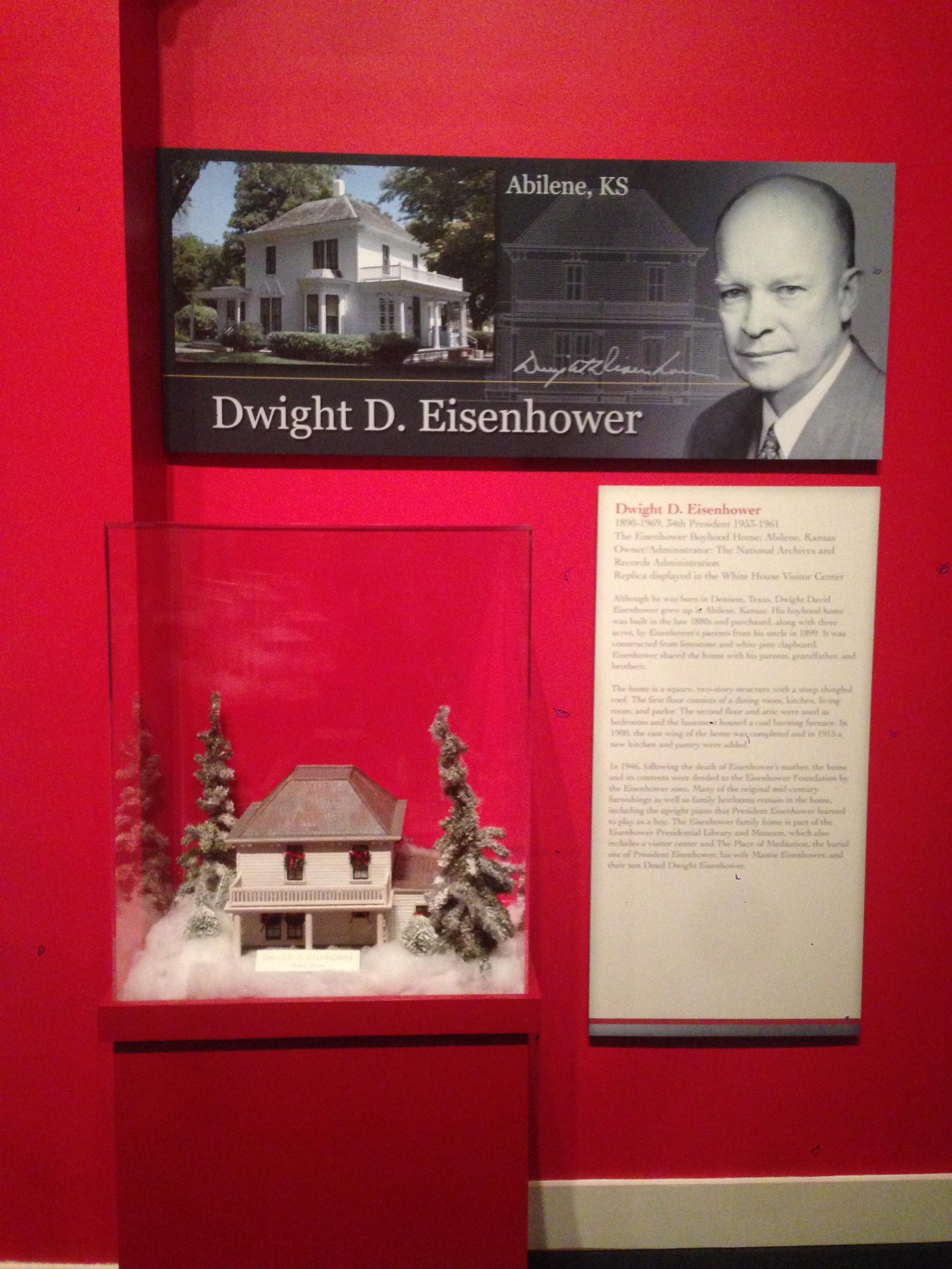 Eisenhower's Christmas House