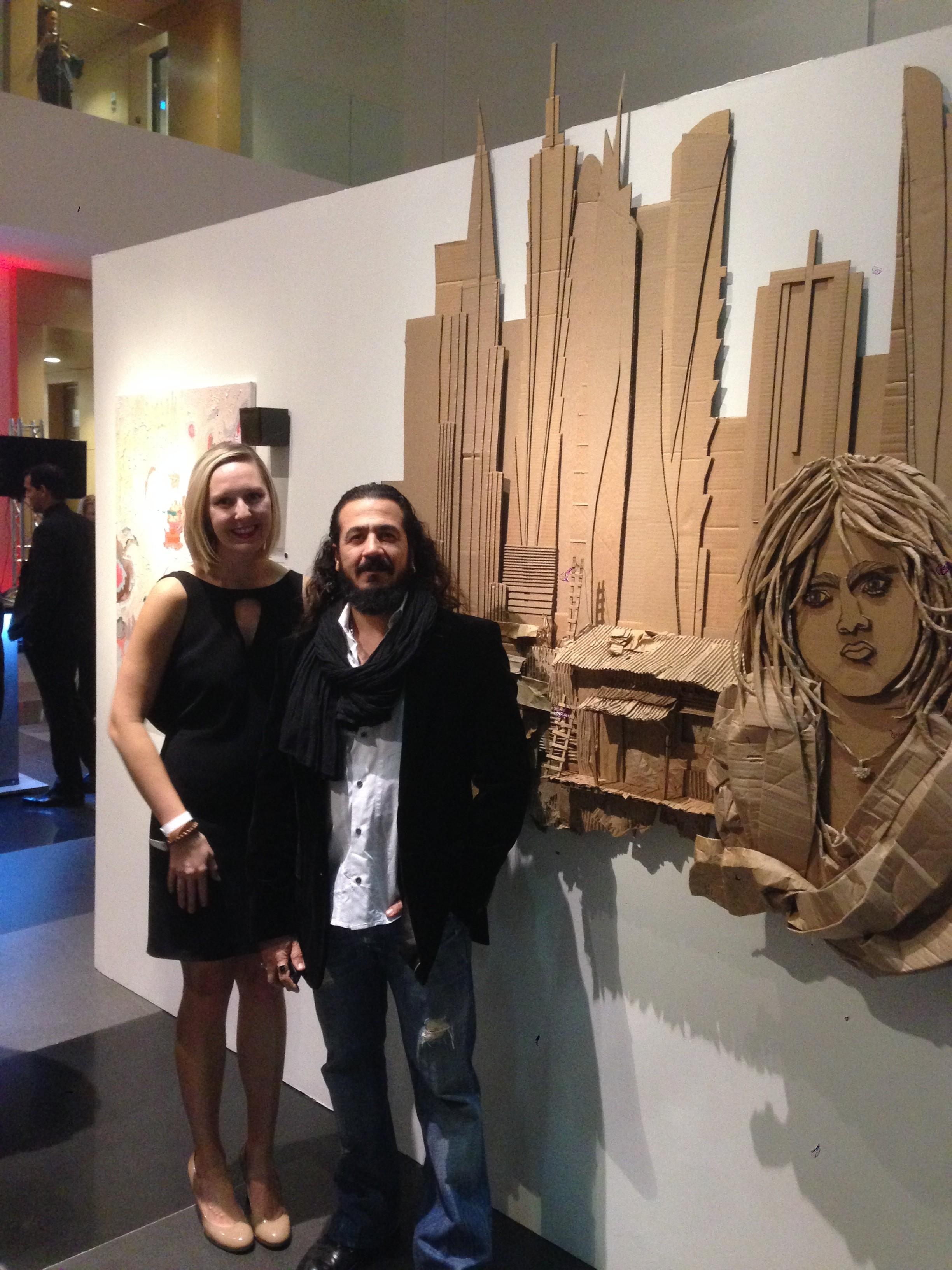 Artist Ali Golzad, architect Meredith Quigley.