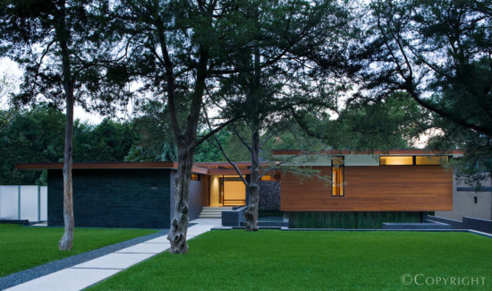 Cliff Welch Designed Modern Home in White Rock Lake