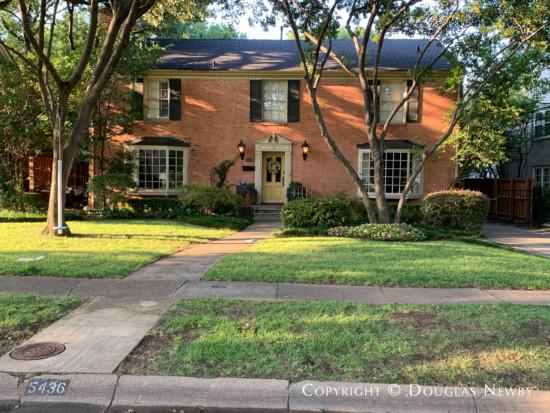Greenway Parks, Dallas, Original Home
