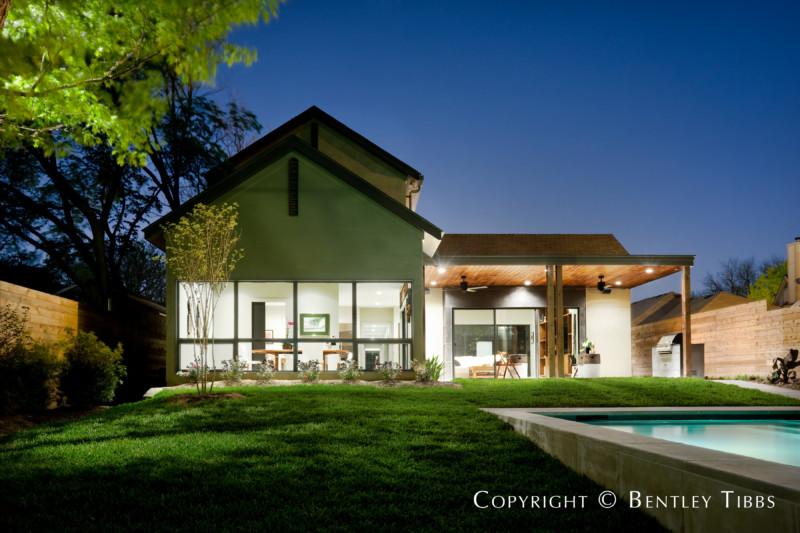 Rear Face of Architect-Designed Home at 6358 Vanderbilt