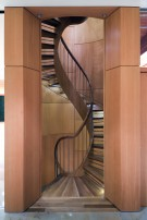 Three Story Circular Staircase in Glen Abbey Estate Home