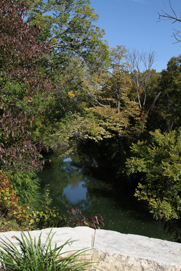 View of Creek From Stone Overhang on Rear of Property in Glen Abbey Gated Neighborhood