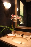 Bathroom Counter in Frank Welch Designed Home