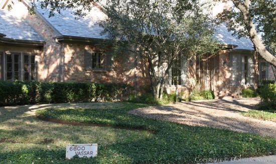 University Park Home - 6600 Vassar Avenue, Dallas, Texas