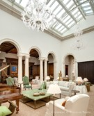 Skylit Interior of a Tuscan Home Designed by William Hablinski and built by Sebastin Construction Group