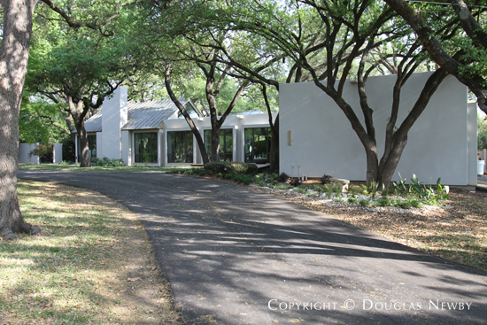 Driveway and exterior of home designed by architect David George