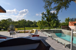 Terraces and Decks at White Rock Lake Home Provide Living Spaces and Views