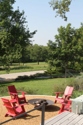 View of White Rock Lake Park From Modern Home
