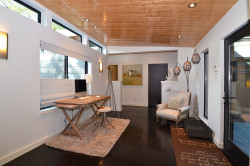 Open Office Convenient to Rest of Contemporary Home