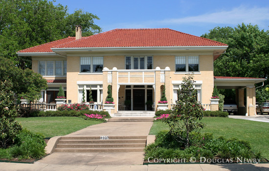 House Designed by Architect C.P. Sites - 4937 Swiss Avenue
