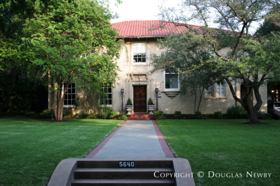 House Designed by Architect Lang & Witchell - 5640 Swiss Avenue