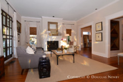 Historic detail and openness in Munger Place home.