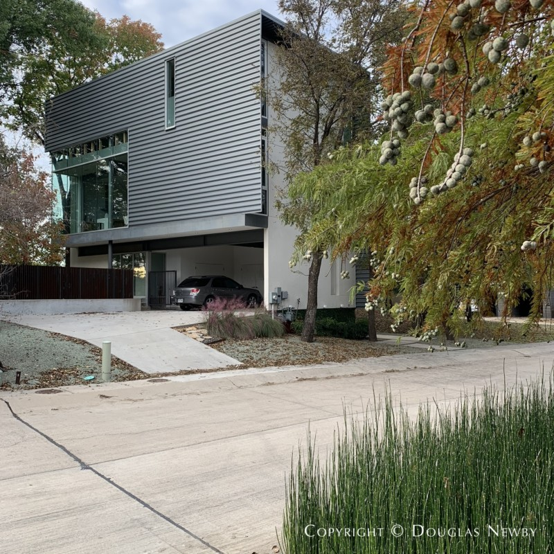 Two-story contemporary home by Architect Joshua Nimmo at 9 Vanguard Way. in Urban Reserve