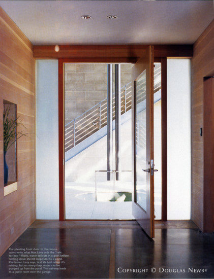 Entry in Home on Devonshire Designed by Paul Draper