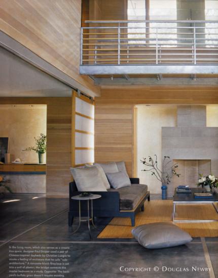 Paul Draper Living Room in Devonshire Home
